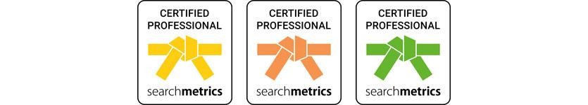 Zertifikate von Searchmetrics als Certified Professional