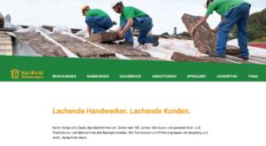 Ausschnitt der Website von der Firma Boehi+Wirz Bedachungen AG. Webdesign der Werbeagentur métro7 aus Basel.